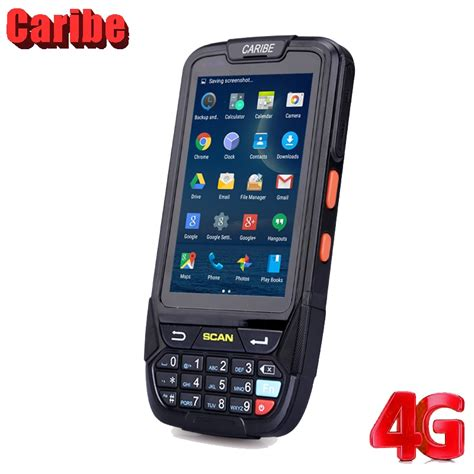 Caribe PL 40L large screen 1d bluetooth android barcode