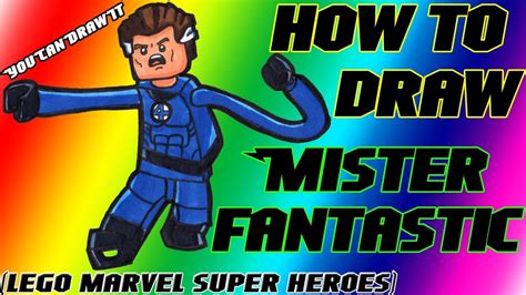 How To Draw Mister Fantastic from Lego Marvel Super Heroes