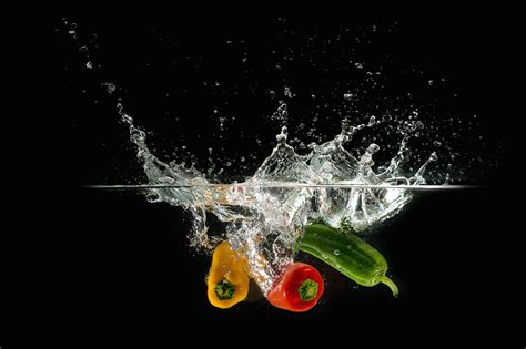 Free picture: bell pepper, fresh water, vegetable, vegetables