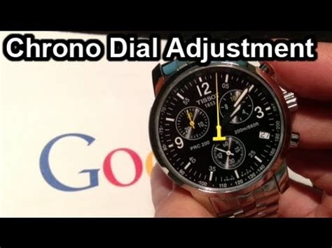 Tissot PRC200 - Chronograph Dial Fix (how to adjust) - YouTube