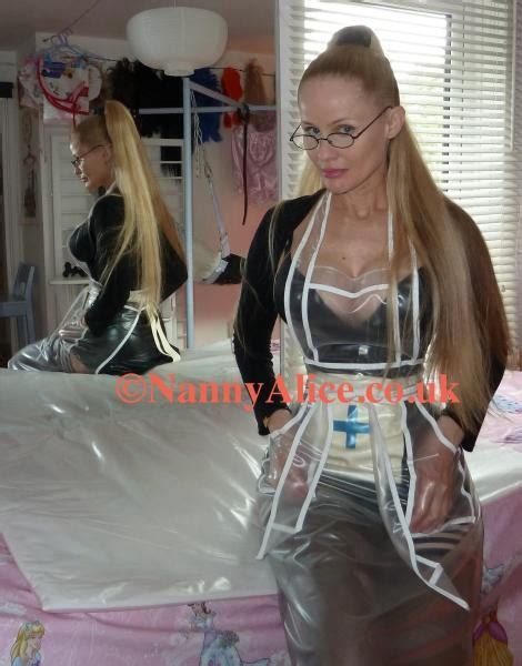 Photos: BDSM Nanny Alice in latex wearing a plastic apron